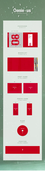 PENTAGON Genieus album packaging