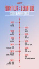 GOT7 Flight Log Departure schedule