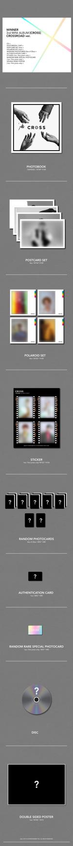 WINNER Cross album packaging (Crossroad)