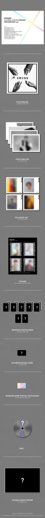 WINNER Cross album packaging (Crossroad)