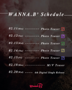 WANNA.B Leggo comeback schedule