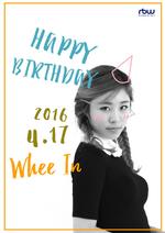 Wheein Birthday Post Twitter