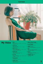 Taeyeon - My Voice (Tracklist)
