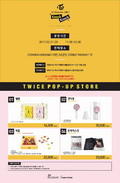 TWICE TWICEcoaster Lane 2 pop-up store goods