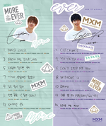 MXM More Than Ever track list