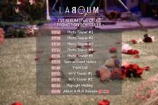 LABOUM Two Of Us promotion scheduler