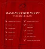 MAMAMOO Red Moon schedule plan
