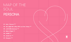 BTS Map of the Soul Persona track list