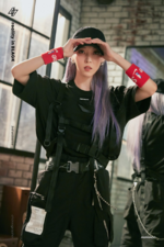 MAMAMOO Moon Byul Reality in BLACK concept photo 2