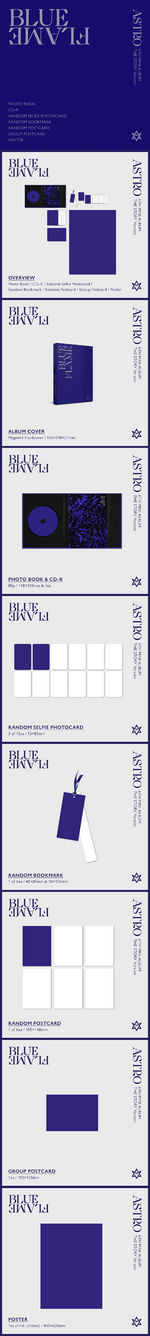 ASTRO Blue Flame album packaging (The Story ver.)