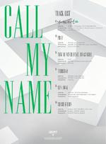 GOT7 Call My Name tracklist