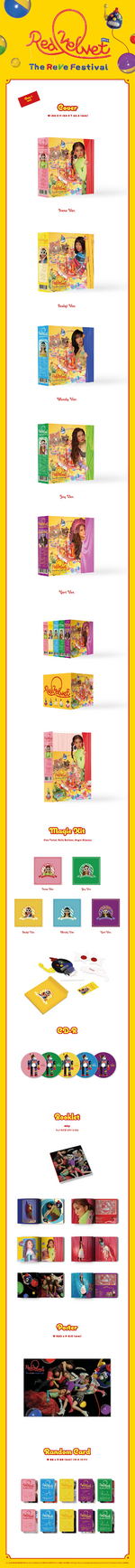 Red Velvet The ReVe Festival Day 1 album packaging (Day 1 ver.)