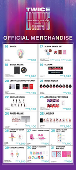 TWICE TWICELIGHTS Manila merchandise 2