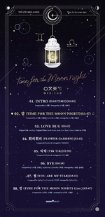 GFRIEND Time for the Moon Night track list