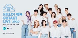 WM Entertainment artists Hello! WM Ontact Live 2020 poster