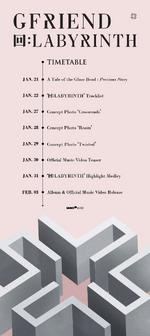 GFRIEND 回 Labyrinth comeback timetable