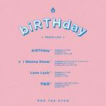 Roh Tae Hyun Birthday track list