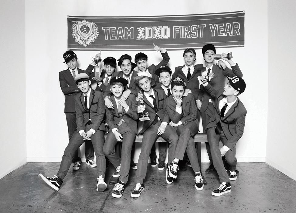 EXO XOXO First Year Group Photo