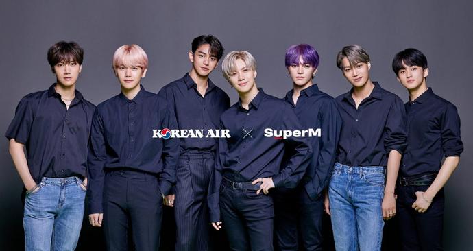 SuperM para Korean Air x SuperM