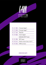 (G)I-DLE I Am promo time table