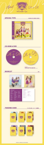 APRIL Oh-e-oh album packaging (Special A)