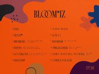 IZONE Bloom IZ tracklist