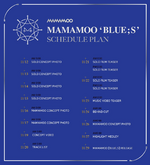 MAMAMOO Blue;s schedule plan