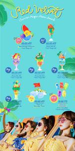 Red Velvet Summer Magic menu board photo