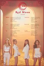 MAMAMOO Red Moon track list