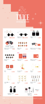 TWICE &TWICE release event official goods