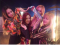 BLACKPINK behind the scens on Playing with Fire making heart.PNG