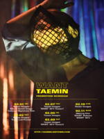 Taemin Want schedule