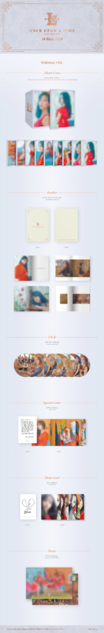 Lovelyz Once Upon A Time album packaging (Normal ver.)