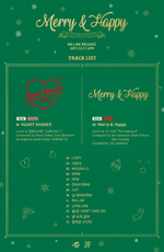 TWICE Merry & Happy tracklist