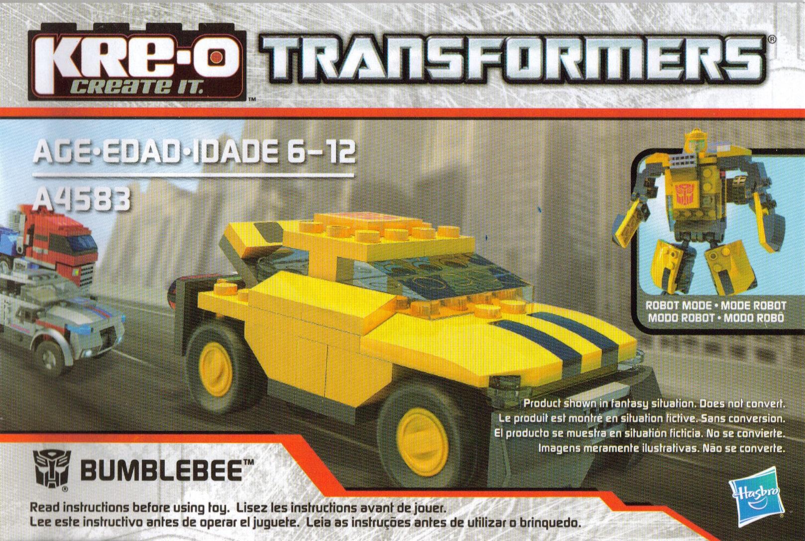 Instructions Transformers Ultimate Vehicle Bucket Bumblebee Kre O