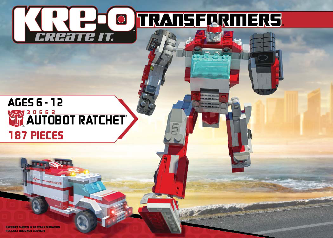 Manual kre-o set 30662 transformers autobot ratchet.