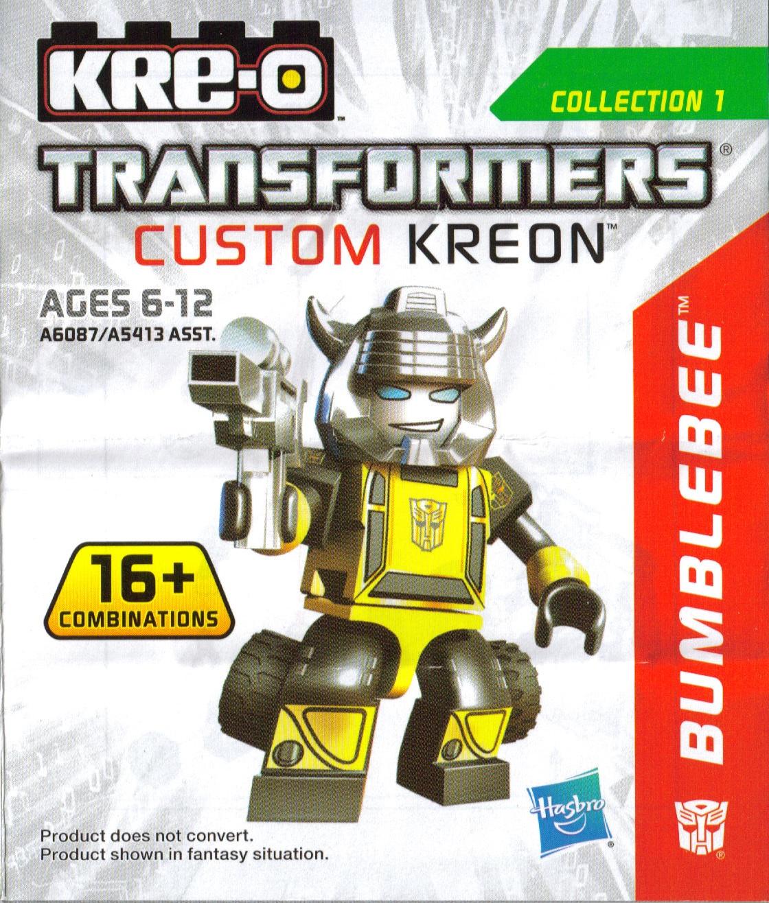Instructions Custom Bumblebee Kre O Wiki Fandom Powered By Wikia