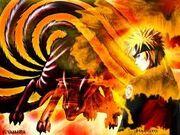 Naruto nine tailed demon