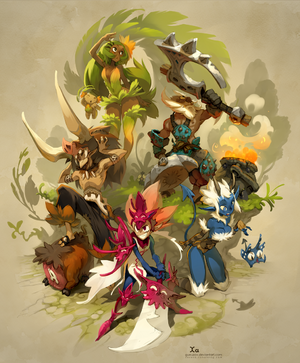 Wakfu MMO Steam poster by Xavier Houssin