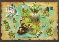 World of Twelve Dofus map stylized with Incarnam
