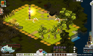 Wakfu MMO combat screenshot