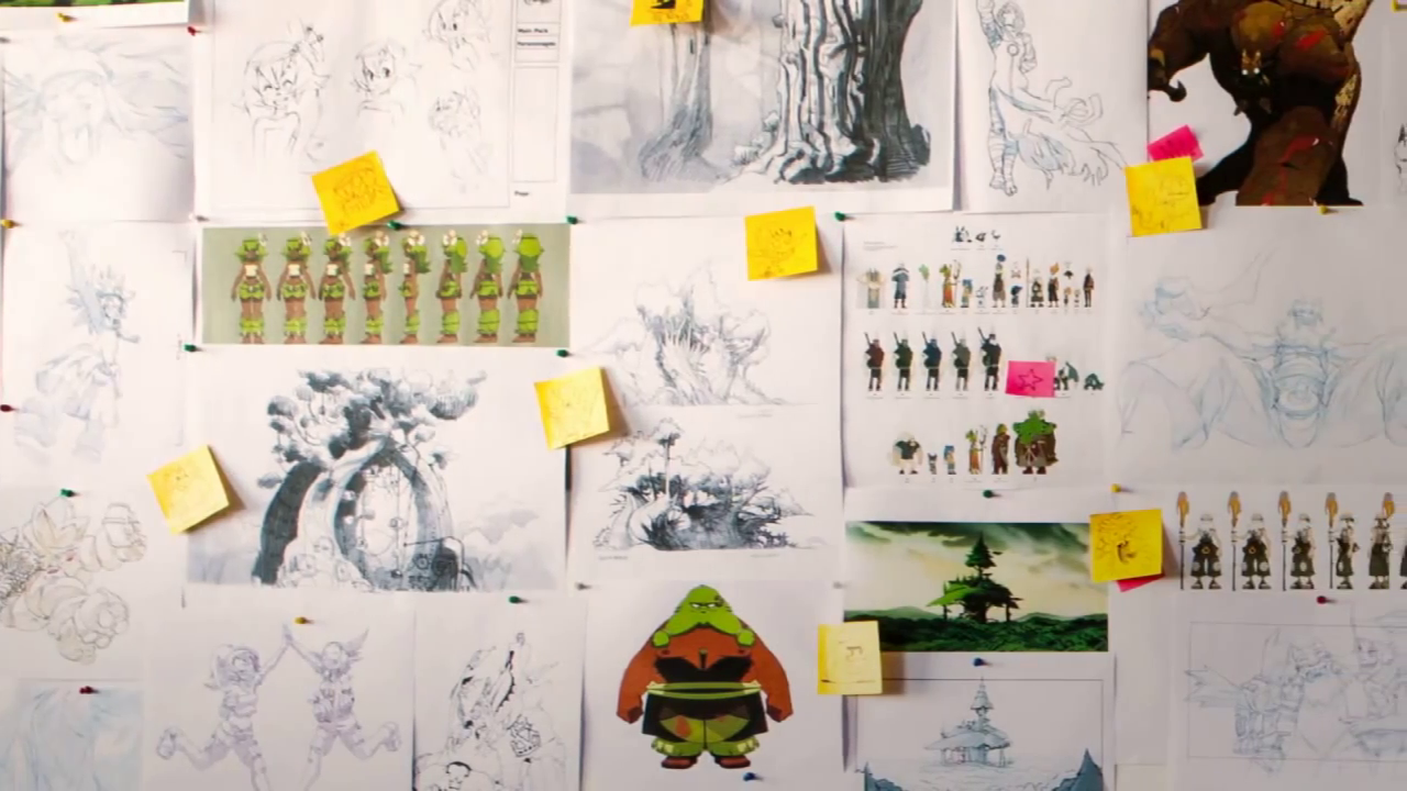 Wakfu Kickstarter video sketches