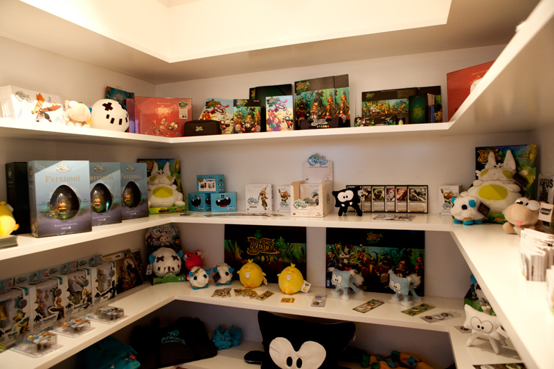 Ankama merchandise shelves