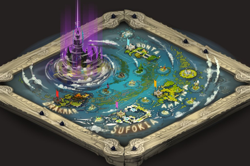 Wakfu MMO overworld map