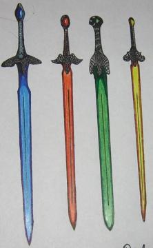 Several Rider's Swords