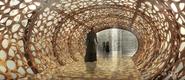 Guilded area corridor concept artwork