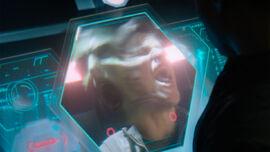 Seg-El realizes Brainiac is still within him