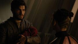 Seg-El holding his son Cor-Vex