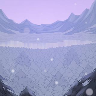 Paisaje invernal en los alrededores de Kalibloom
