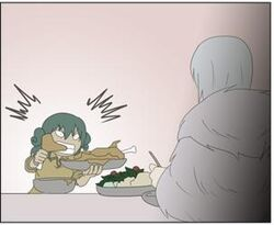 Kubera -Leez piging out